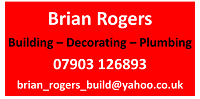 Brian Rogers, building, decorating, plumbing